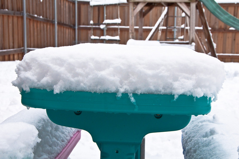 Snow - February 11-12, 2010 - This was the second round of snow. (After)