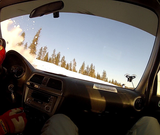 In the Rally Car
