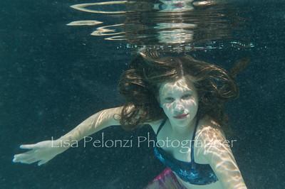 Sadie underwater
