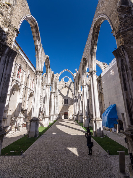 Carmo Convent ruins in Lisbon