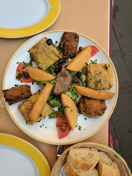 Don't miss the food when visiting Nice, France.
