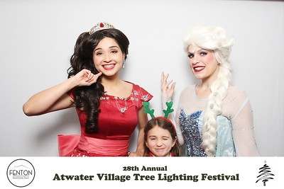 princess photo booth @ atwater village tree lighting festival