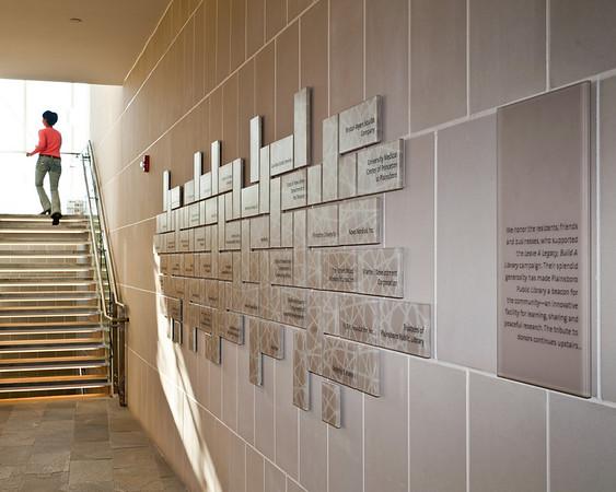 Plainsboro Library Memorial Wall