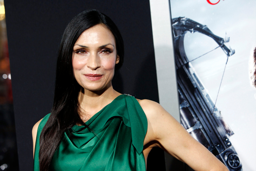 Description of . Actress Famke Janssen arrives at the premiere of the film