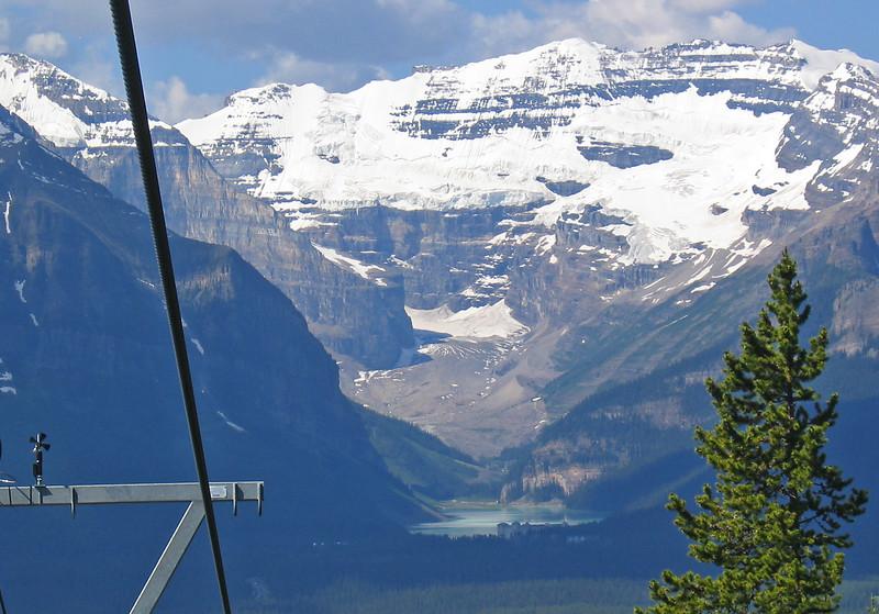 Lake Louise - a view from ski lift