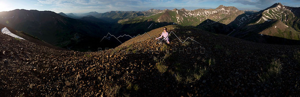 Yoga Panorama, Elk Range, CO