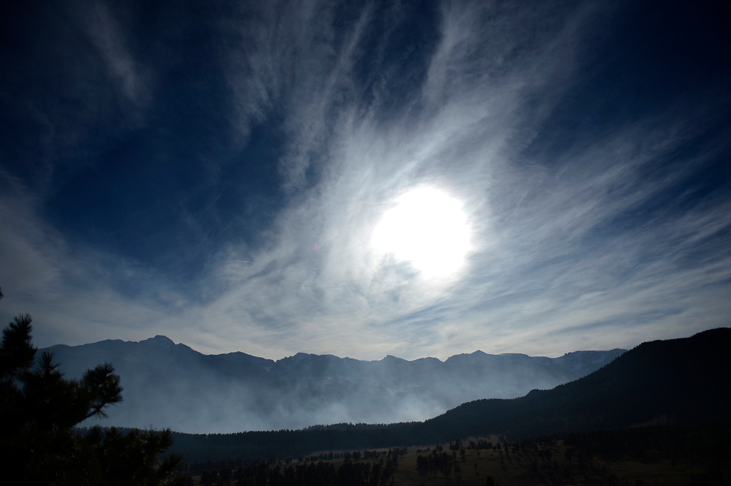 . The Fern Lake fire, smoldering at Historic Moraine Park in the  Rocky Mountain National Park, in Colorado Monday, December 3,  2012.    Joe Amon, The Denver Post