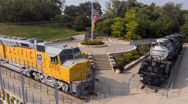 UP Trains at  Kenefick Park, Omaha
