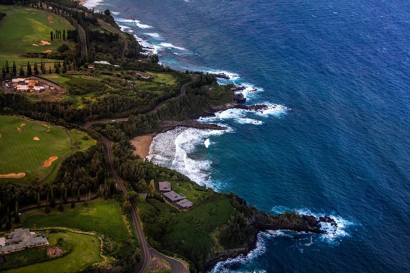 Coasts of Maui as seen from above, Maui, Hawaii