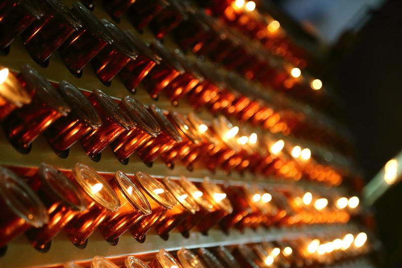 Candles at Saint Patricks