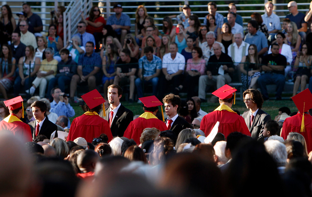 . Redlands East Valley High School\'s class of 2014 graduation ceremony takes place on Thursday, June 12, 2014 at the Redlands Bowl in Redlands, Ca.  (Photo by Micah Escamilla/Redlands Daily Facts)
