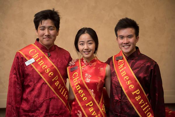 DAVID LIPNOWSKI / WINNIPEG FREE PRESS  (L-R) Alex Li, Anna Sun, and Roger Tran are Pavilion ambassadors for the Chinese Pavillion photographed at a Folklorama media call at the RBC Convention Centre Thursday July 21, 2016.