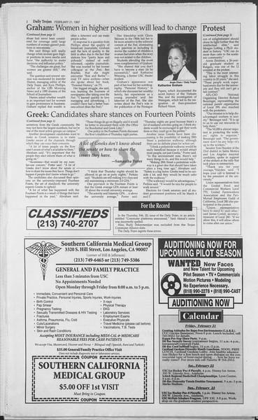 Daily Trojan, Vol. 130, No. 28, February 21, 1997