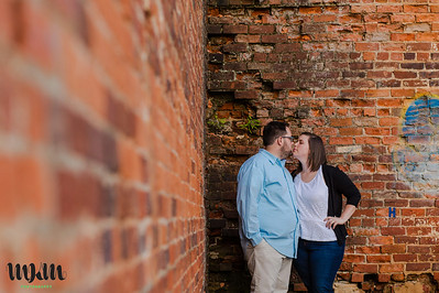 Sara & Elliott | A Warehouse District Engagement in Raleigh & Apex