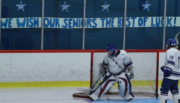 Boys Hockey Senior Night Ceremony 2012