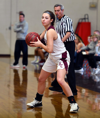 12/31/2019 MIke Orazzi | StaffrBristol Central's Gwen Torreso (20) during Tuesday's girls basketball game with Gilbert in Bristol.