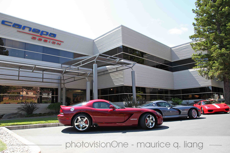 Viper club and Ferrari club pay a joint visit to Canepa Design on July 16, 2011.