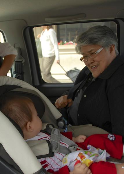 Picking Grandma up at the Airport