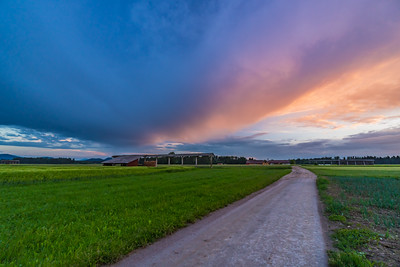 Sunset near Brnik - May 17, 2018