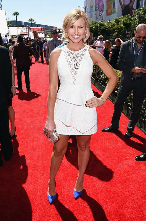 . LOS ANGELES, CA - JULY 16:  NHRA driver Courtney Force attends The 2014 ESPYS at Nokia Theatre L.A. Live on July 16, 2014 in Los Angeles, California.  (Photo by Michael Buckner/Getty Images For ESPYS)