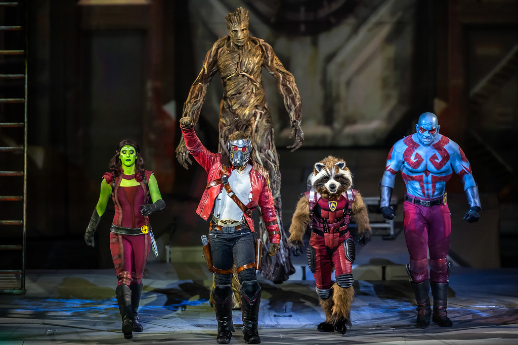 ". The Guardians of the Galaxy are part of the fun in �Marvel Universe LIVE! Age of Heroes."" The show is at Quicken Loans Arena from Oct. 13-15. For more information, visit www.theqarena.com. (Feld Entertainment)"