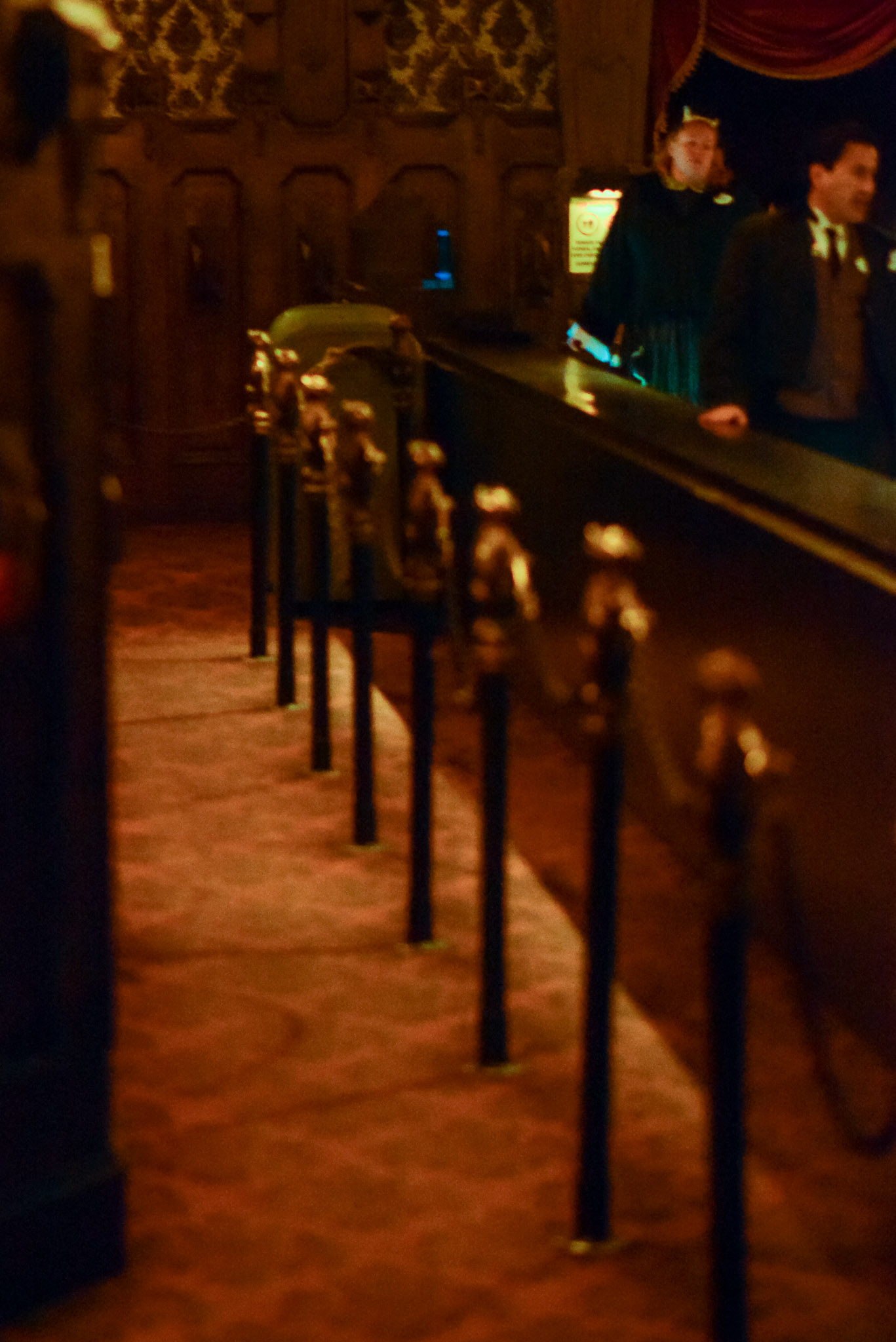 Haunted Mansion Front of Queue - Walt Disney World Magic Kingdom