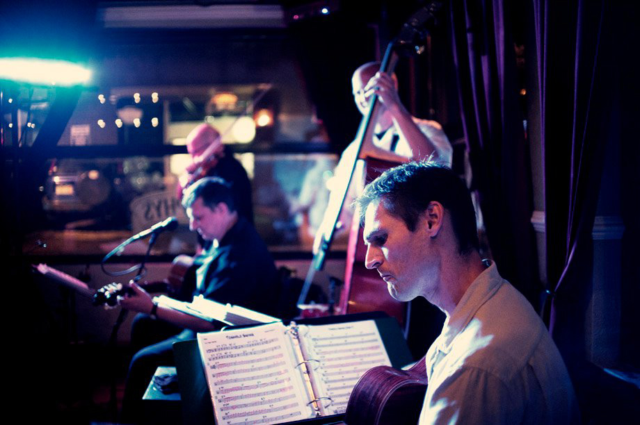 . The Gypsy Swing Revue play the Irish Snug\'s modest stage every Wednesday.  Provided by Gypsy Swing Revue