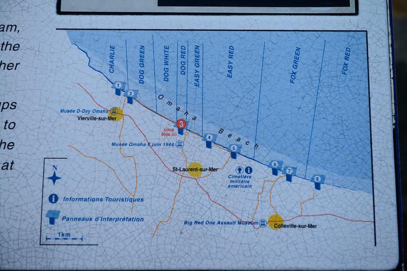 Omaha Beach Sector Map