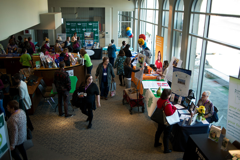 "LANCASTER, OHIO   MARCH 23, 2018: Attendees walk amongst the display booths during the Celebrate Women Conference 2018, themed ""Recognizing Our Superpowers"" on March 23, 2018 at Ohio University Lancaster in Lancaster, Ohio.  Ty Wright photo"