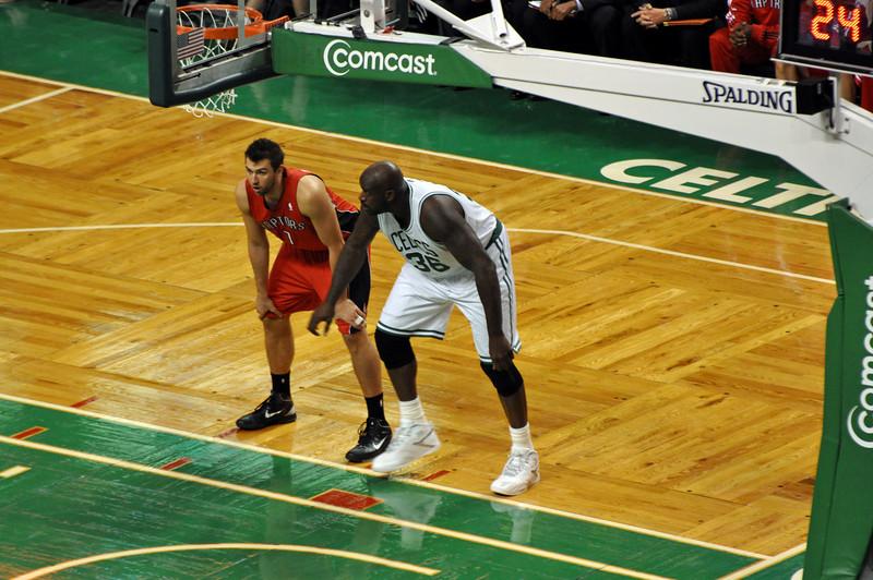Raptors pre-season game - the Big Shamrock!