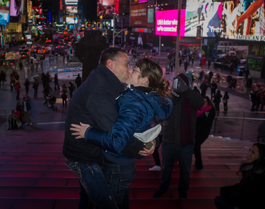 Engagement In Times Square