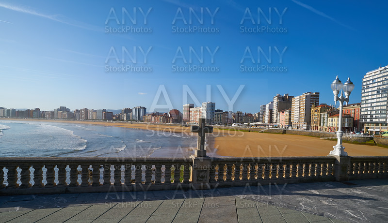 Gijon playa San Lorenzo beach Asturias Spain
