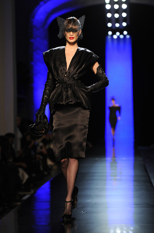 . A model walks the runway during Jean Paul Gaultier show as part of Paris Fashion Week Haute Couture Spring/Summer 2014 on January 22, 2014 in Paris, France.  (Photo by Pascal Le Segretain/Getty Images)