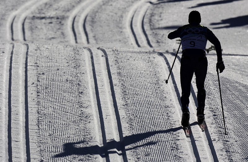 . Kazakstan\'s Nikolay Chebotko competes in the men\'s Nordic Cross Country individual sprint qualification at Whistler Olympic Park during the Vancouver Winter Olympics on February 17, 2010. (FRANCK FIFE/AFP/Getty Images)