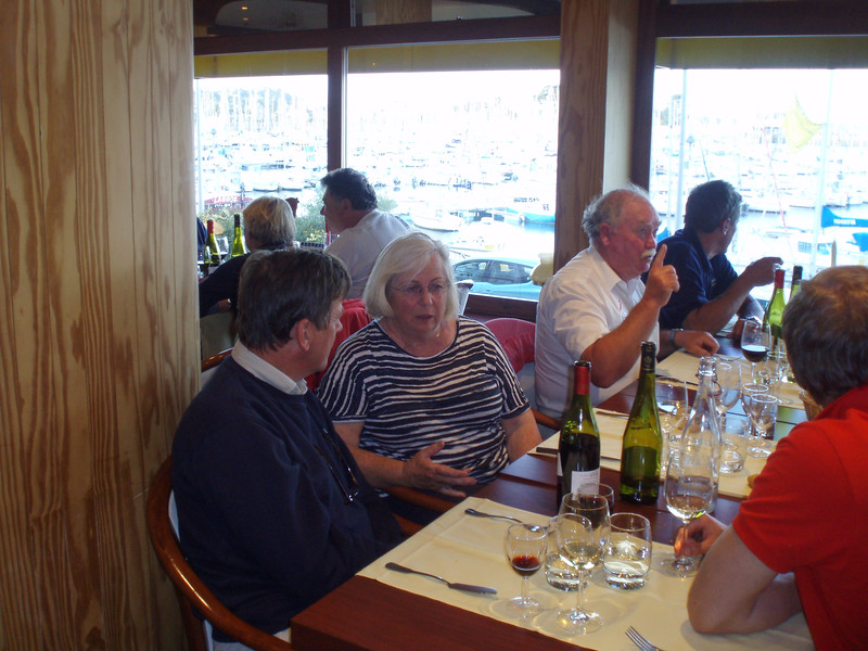 "The second ""end of cruise dinner"" in Cherbourg"