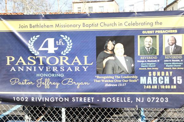 MARCH 15TH, 2020: THE FOURTH PASTORAL ANNIVERSARY @ BETHLEHEM BAPTIST CHURCH