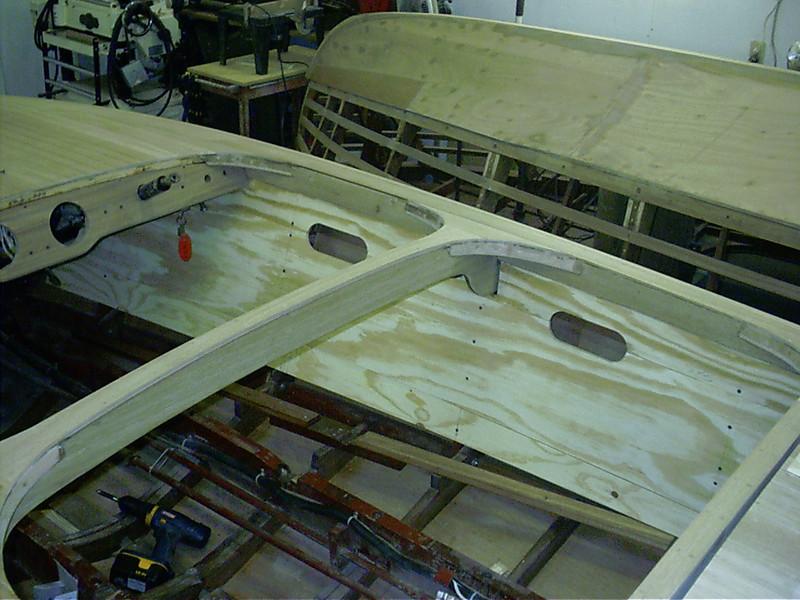 Starboard cockpit liner patterens.