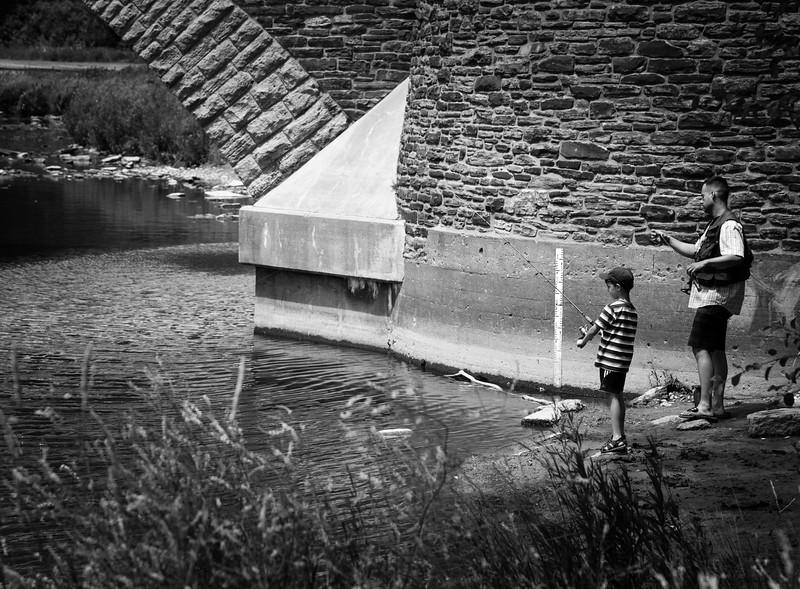 Fishing At Old Mill Bridge