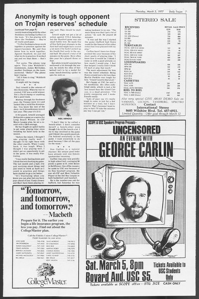 Daily Trojan, Vol. 71, No. 16, March 03, 1977