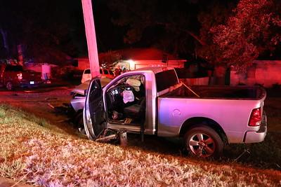 Princeton TX. 2nd. St. Truck vs. Utility Pole. 8/6/19