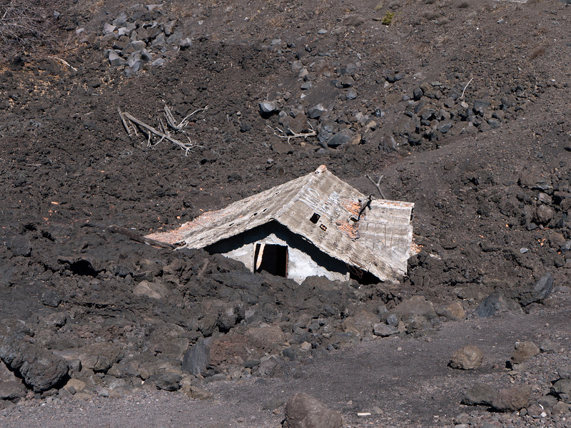 Buried by the volcano