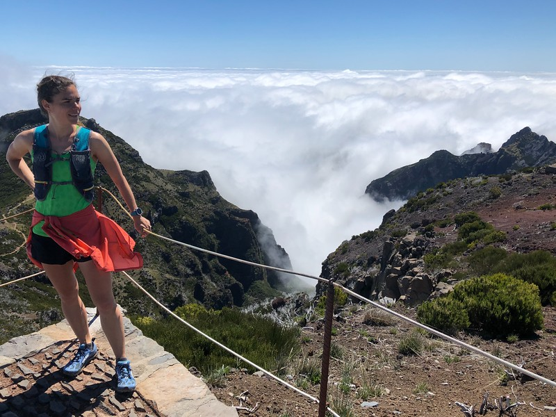 At the top of Pico Ruivo (1,862 m)  the highest peak on the Madeira Island