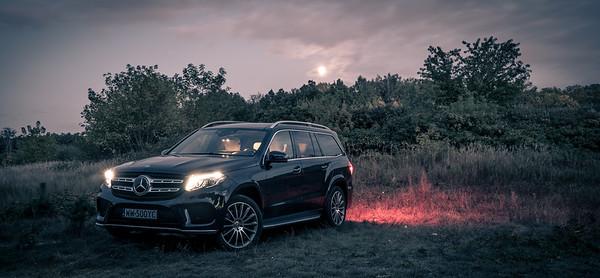 Mercedes + Smart - malowanie światłem