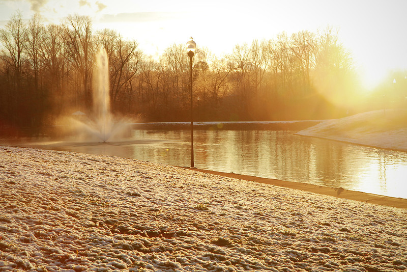 A chilly afternoon down at the lake.