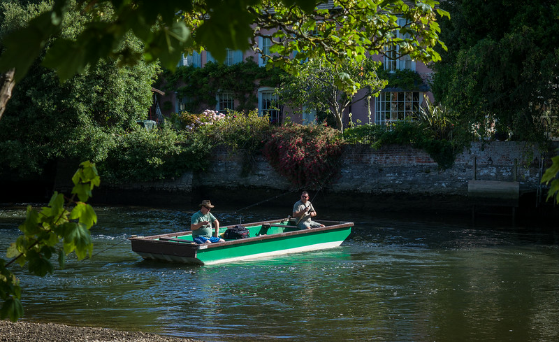 Fishing on the Avon at Christchurch