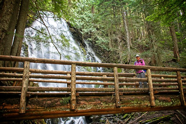 Ramona Falls from the Sandy River - 2020/04/26
