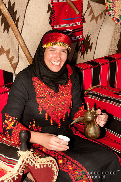 Audrey Serving Traditional Arabic Coffee - Amman, Jordan