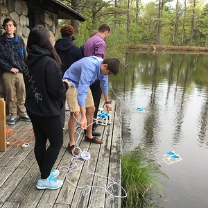 Exploratory Science uses  underwater ROVs (remote operated vehicles) to check out the bottom of West Pond