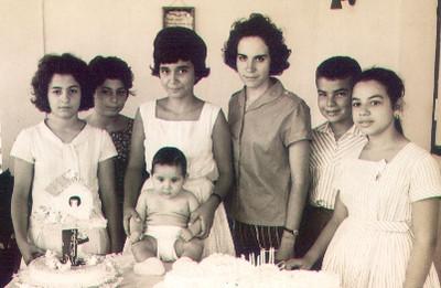 Aniversário manas Salgueiros, Nucha Barata, Manel Vasco Paulo, ?, Ze' Santos Sousa e Lisa Teixeira