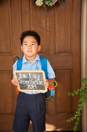 Spencer 1st Day of 2nd Grade